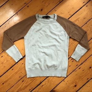 French Connection Baby Soft Colorblock Sweater L